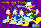 Coloreaza pe Donald Si Familia